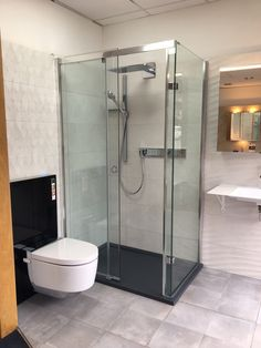 Stunning new displays Ealing of our Level Access Sliding Door Enclosure with finger pull handle Ealing, Enclosures, Inclusive Design, Shower Enclosure, Enclosure, Interior Design, Sliding Doors, Bathroom Design, Sliding Shower Door