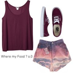 . by shortieeness on Polyvore featuring Monki and Vans