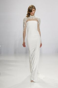 Pin for Later: The Reason Every Bride Will Fall in Love With Christian Siriano's First-Ever Wedding Collection  Embroidered sleeve column gown.