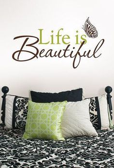 'Life is Beautiful' Quote Wall Art ♥