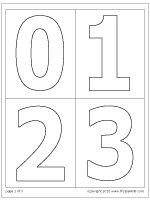 Large number stencils- use on center signs to show how many can play Number Template Printable, Number Templates, Free Printables, Printable Shapes, Numbers Preschool, Math Numbers, Number Fonts, Number Worksheets, Preschool Math