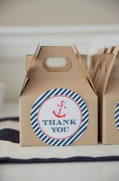 Nautical Sailor Boat Boy 1st Birthday Party Planning Ideas
