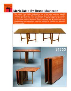 Vintage Teak Maria Flap Table by Bruno Mathsson