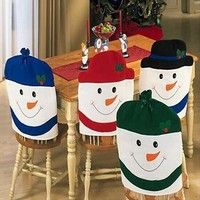 Cheap chair back cover, Buy Quality chair cover directly from China cover chair Suppliers: 4 Pcs/Set Christmas Chair Covers Cute Showman Chair Back Covers Christmas Party Table Christmas Snowman Gift Dinner Decor Christmas Snowman, Christmas Humor, Christmas Time, Christmas Crafts, Christmas Ornaments, Snowman Hat, Kitchen Chair Covers, Chair Back Covers, Christmas Party Table