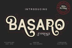 BASARO by Viaction Type.Co on @creativemarket Typeface Font, Script Logo, Sans Serif Fonts, Typography Fonts, Lettering, Font Creator, Free Fonts Download, Font Free
