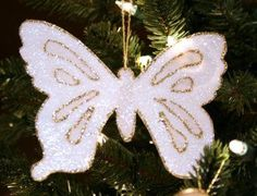 Chrismons (Christian symbol ornaments) for next year's Christmas tree.