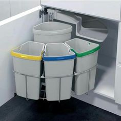 Buy Vauth-Sagel Oeko Center Pivot Waste Bin System, 39 litres - Redo furniture - Oeko Centre swing out waste bin, 39 litres - Recycling Station, Recycling Containers, Recycling Bins, Cleaning Games, Recycling Process, Tyres Recycle, Recycled Tires, Plastic Bins, Under Sink