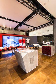 Retail Design | Store Interiors | Shop Design | Visual Merchandising | Retail Store Interior Design | Nike | NTL, England Time Kit, by Millington Associates