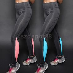 Womens Slim Leggings Gym Exercise Sports Pants Trousers for Yoga Running  Jogging 5a7f76df2ec