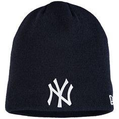 New York Yankees New Era Solid Uncuffed Knit Beanie - Navy
