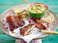 Fleisch grillen - Rezept-Ideen mit Kotelett und Co. - spareribs-guacamole  Rezept