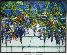 Large image of Louis Comfort Tiffany: Wisteria Glass Panel - opens in a new window