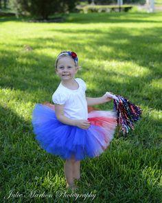 Red, white, and blue July 4th Tutu newborn-5T, birthday, dress up play, photo shoot. July 4th, Patriotic, American #tutus #Princesstutus