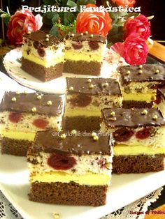 » Prajitura FantasticaCulorile din Farfurie Sweet Desserts, Delicious Desserts, Yummy Food, Cookie Recipes, Dessert Recipes, Romanian Desserts, Cake Cookies, Cheesecake, Deserts