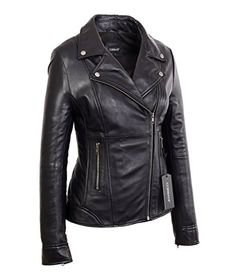 New Trending Outerwear: Womens Black Mid Length Asymmetrical Lambskin Real Leather Jacket (X-Large, Black). Womens Black Mid Length Asymmetrical Lambskin Real Leather Jacket (X-Large, Black)  Special Offer: $178.00  299 Reviews This black mid length asymmetrical leather jacket has been crafted from 100% real leather and has been designed for a modern and slim fit. Moto inspired, this mid...