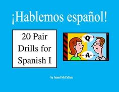 Get your students to speak the language more using these pair drills. Students feel safe and comfortable using these drills because they only have an audience of one.