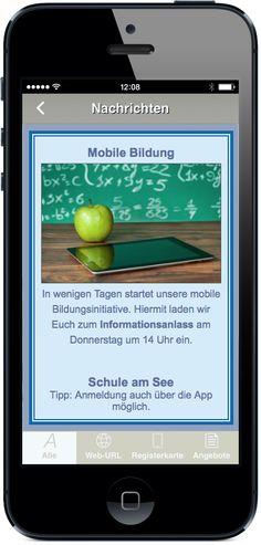 Ihre App für Bildung und Schule - Via E-Flyer und Push-Nachricht schnell und bequem Aktuelles, Events und Elternbriefe versenden. App jetzt live testen: http://nextvisionapps.com/de/online-demo-bildung