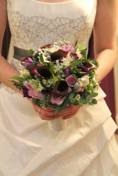 The Bridal Bouquet looked delicious and included Arabicum Chincherinchee, Paper Whites, Mistletoe, Christmas Roses, Freesia, Tulips, Lissianthus, Calla Lilies and a plethora of fresh Berries and Silver Grey Foliages