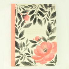 """Looking for inspiration? You'll find it written on the front of the lovely Pink Floral Journal. """"She knows that one bold decision at the right time can change everything"""" will remind you of this every time you open the journal. The Pink Floral Journal is wonderful for gifting to friends, coworkers and family or to ke Right Time, Desk Set, Lined Page, Paper Goods, Notebook, Change, Journal, Friends, Floral"""