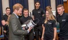 """Prince Harry cleverly was able to skate around the issue of hitting the ice during his visit to Nottingham Council House. After being given a pair of skates from the Coach Core apprentices for a second time, he joked,  """"Part of the reason for getting you to sign them, is so I don't have to wear them - I can put them on my shelf.""""  Photo: Getty Images"""