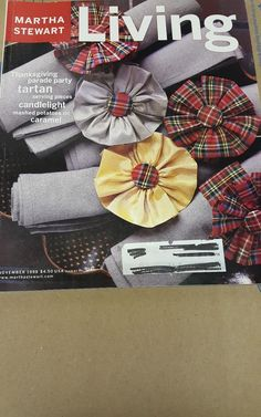 Vintage Martha Stewart Living Magazine November 1998 Tartan Plaid Christmas
