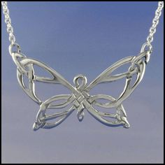 Celtic Butterly Necklace in Sterling Silver SW3256