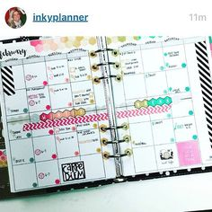 Just like the classic little black dress, our black Carpe Diem planner is the perfect backdrop for lots of colorful planning! @carpediemplanners #carpediemplanner #Repost @inkyplanner with @repostapp. ・・・ Gonna need your shades for this #superbright monthly spread!  Used the mini hexies from @theresetgirl to number the boxes and as my color inspiration  it's awesome how versatile the MO2P is in the #carpediem planner from @simplestories_