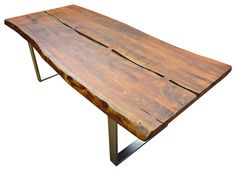 Live Edge Acacia Wood & Iron Rustic Large Dining Table images ideas from Home Table Ideas Wood Table, Dining Room Table, A Table, Dining Rooms, Hall Tables, Rustic Table, Console Table, Rustic Loft, Rustic Industrial