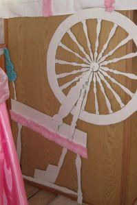 Sleeping Beauty Birthday Party handmade spinning wheel