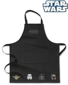 Star Wars Apron in adult and kid sizes at Williams Sonoma. Though something tells us Darth Vader doesn't cook.