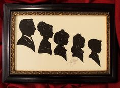 Silhouette Family Grouping. A real heirloom.