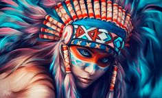 indian on Behance Native American Girls, Native American Warrior, Native American Pictures, Native American Artwork, Native American Artists, Native American History, American Indian Tattoos, American Indian Art, Native Indian