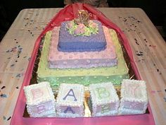 Baby Shower Cake - Baby Blocks