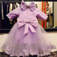 Baby tulle dress    #mihradesigndress #littleprincess #lilac #dress #handmade #fashion #couture #madeinbih #love #cute #bows  #tulledress #babygirl