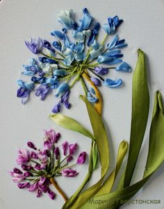 Wonderful Ribbon Embroidery Flowers by Hand Ideas. Enchanting Ribbon Embroidery Flowers by Hand Ideas. Ribbon Embroidery Tutorial, Fabric Flower Tutorial, Silk Ribbon Embroidery, Fabric Flowers, Bow Tutorial, Creative Embroidery, Learn Embroidery, Hand Embroidery Designs, Embroidery Stitches