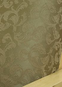Brighton Olive fabric offers embroidered tone on tone light brownish olive floral pattern #furnitureslipcovers