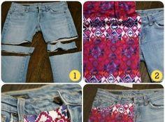 DIY Cute Short Jeans
