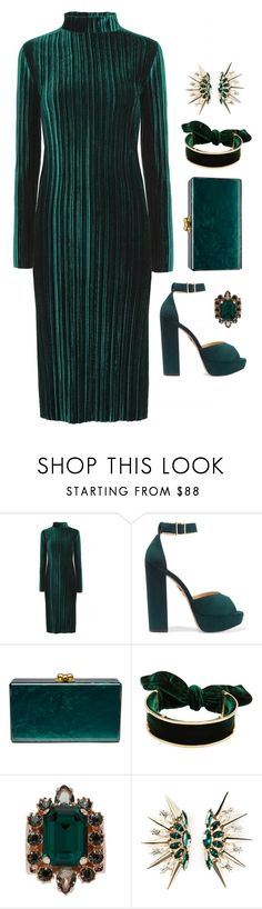 """Emerald City"" by silhouetteoflight ❤ liked on Polyvore featuring Charlotte Olympia, Edie Parker, Mawi and Anton Heunis"
