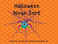 FREEBIE! Candy Corn Noun Sort - Across the Hall in 2nd Grade - TeachersPayTeachers.com