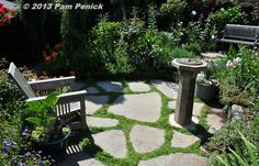 A sundial is a classic accent for a sunny garden patio.