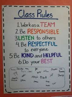 19 Classroom Management Anchor Charts is part of Science Pictures Anchor Charts - Display classroom rules, procedures, expectations for treating others and supplies, and sub behavior policies in these anchor charts! 5th Grade Classroom, Classroom Behavior, Classroom Posters, Classroom Management, Elementary Classroom Rules, Classroom Contract, Behavior Management, Classroom Decor, Kindergarten Class Rules