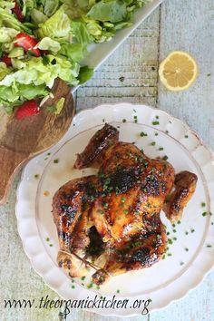 Amazingly Easy Roasted Chicken with Lemon Honey Glaze | The Organic ...