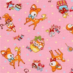 Japanese Fabric from Cosmo Baby Scrapbook, Scrapbook Paper, Cool Patterns, Print Patterns, Deer Fabric, Vintage Wrapping Paper, Exotic Art, Kawaii Stationery, Modes4u