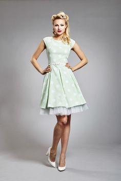Hráškové šaty s bílým velkým puntíkem / Zboží prodejce JaneBond   Fler.cz Retro, Vintage, Design, Style, Fashion, Swag, Moda, Fashion Styles, Fasion