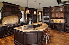 Number one priority in my dream house: Big kitchen. This. I love this.