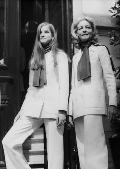 Lesley and Lauren Bacall, 1975