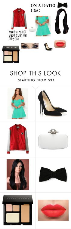 """TO SHANNON"" by aero1680forever ❤ liked on Polyvore featuring Jimmy Choo, Oscar de la Renta, Maison Michel, Bobbi Brown Cosmetics, buffaloface and Babe"