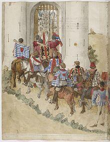 ок.1460.Бартелеми дЭйк.Миниат.из «Книги Турниров» короля Рене.Париж, Нац.библ.