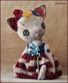 By+Alla+Bears+original+8.5++artist+OOAK+Vintage+Old++by+AllaBears