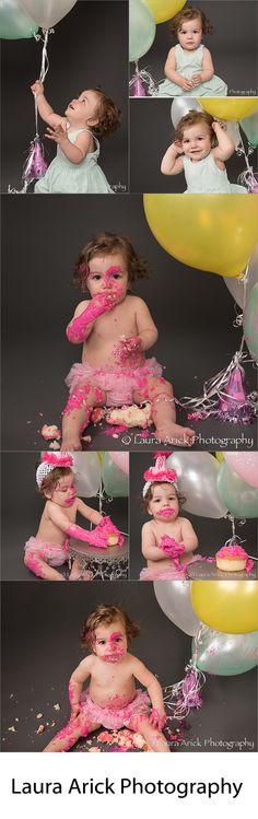 Baby girl smash cake